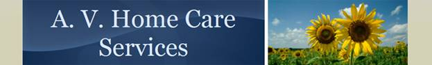 A. V. Home Care Services Logo